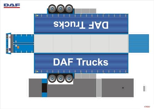 DAF Space Cab Ati 2 2 paper model